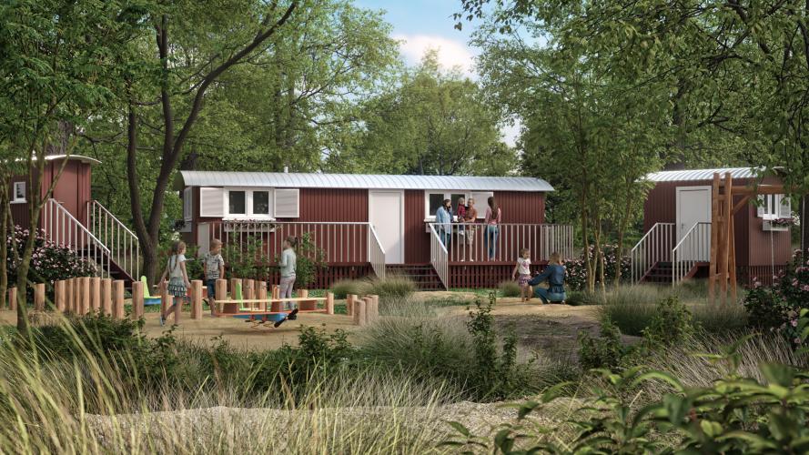 errichtung eines waldkindergartens mit einer kindergartengruppe, bestehend aus einem waldkindergartenwagen, einem materialwagen und einer komposttoilette